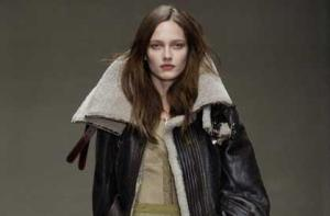 Burberry Aviator Jacket on Model