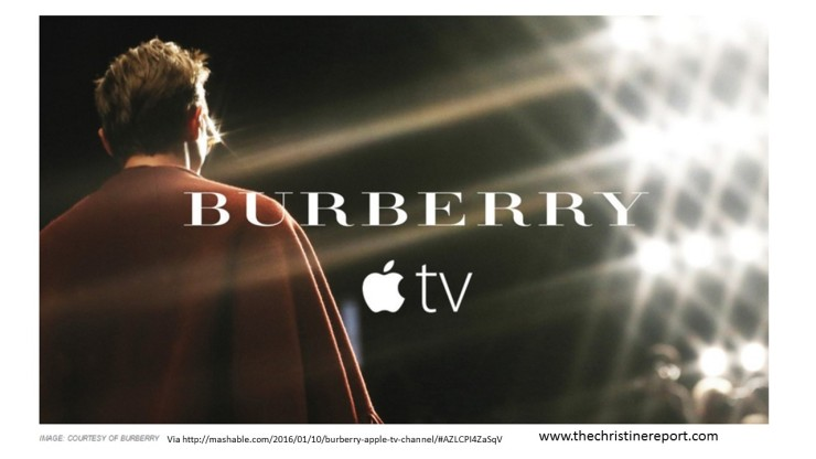 Burberry Men's Show Debuts on Apple TV