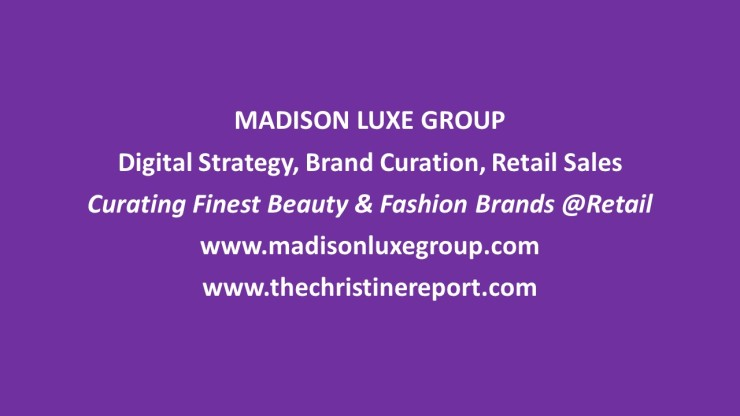 Madison Luxe Group is an innovative beauty, fashion and lifestyle luxury brand retail sales distributor and marketing consulting agency founder Christine C. Oddo and Madison Luxe Group