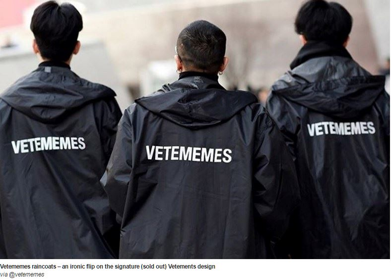 Vetememes the Vetements Meme Jacket Sold Out