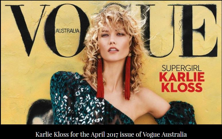 Vogue Australia with Karlie Kloss