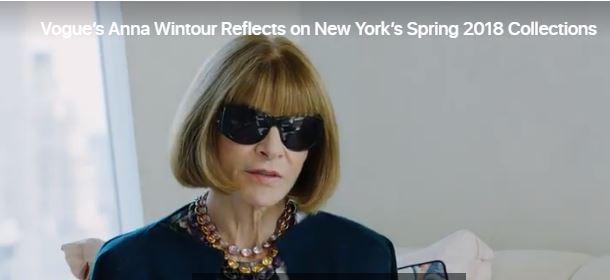 Anna Wintour On #NYFW Spring2018