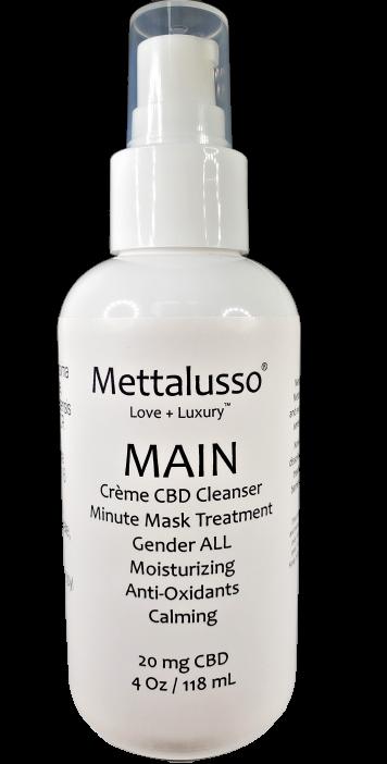 Mettalusso MAIN CBD THC Free Luxury Cleanser + 1 Minute Mask $39